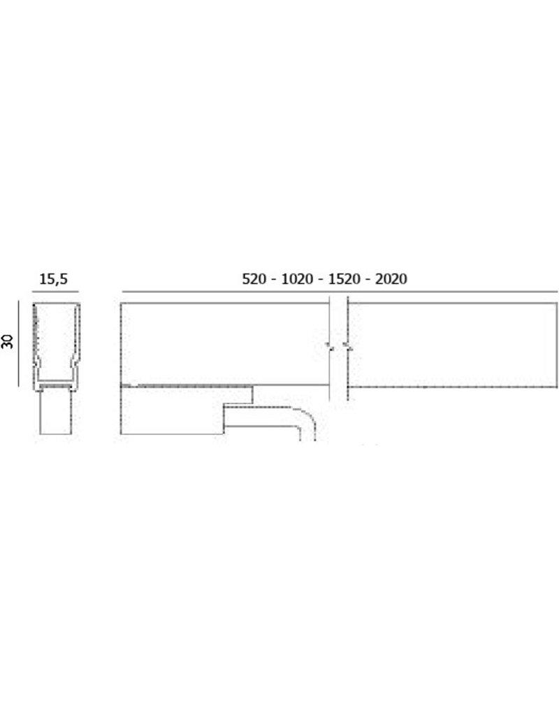 Aldabra Outdoor Linear Extrusion profile