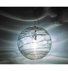 Leucos Sibilla S 30 Pendant, 75W max E26 medium base, Crystal glass and Chrome details, Ø30cm (lamp not included)