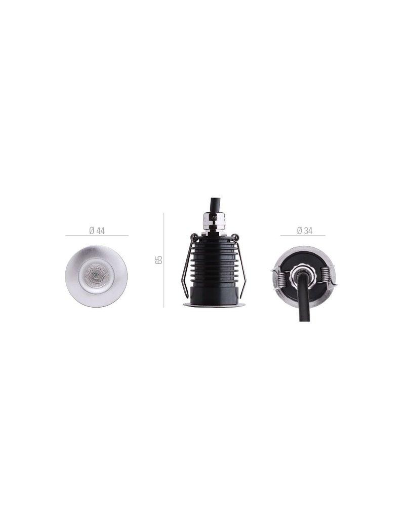 B-Light Atria Mini Round Miniature In-floor Uplight