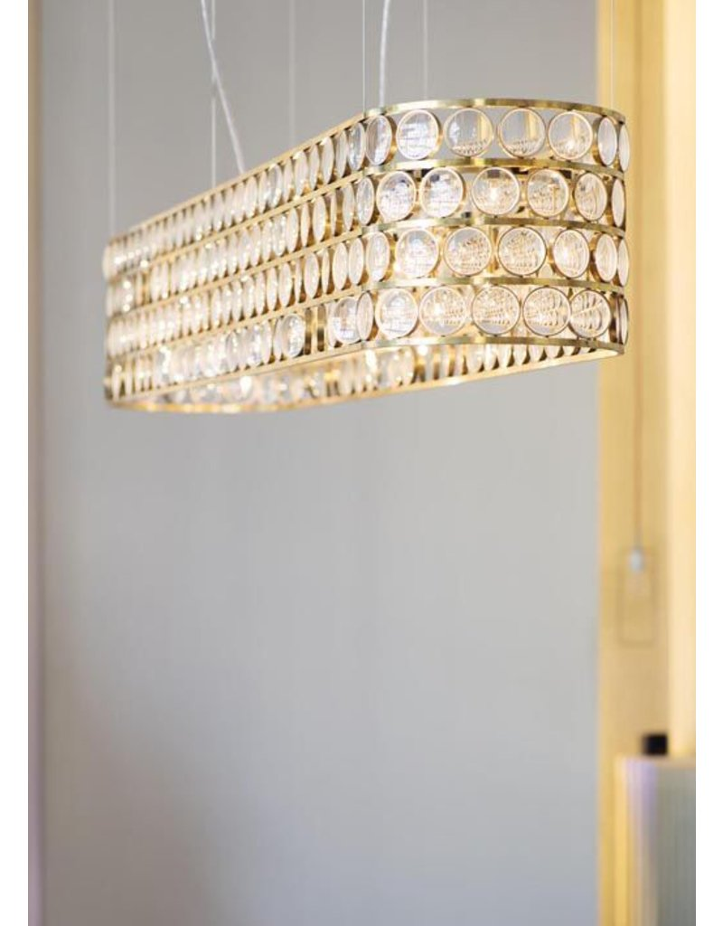 Viabizzuno Da Ma Lens Glass LED Chandelier