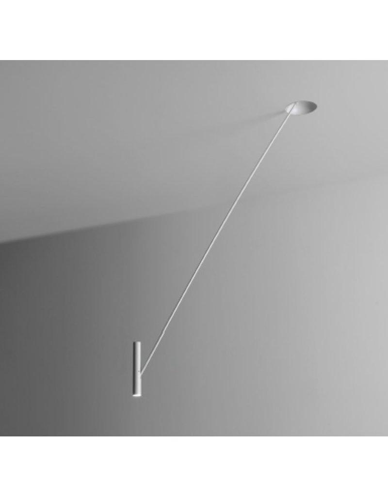 Semi recessed trimless ceiling pendant for reading