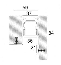 Microline TRW+ Recessed Glarefree Trimless Corner Profile
