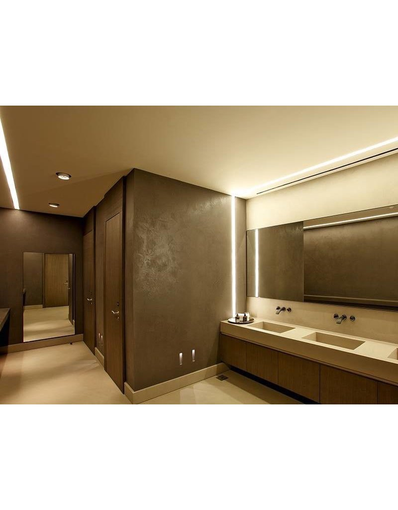 Microline TRW+ Recessed Glarefree Trimless Corner Profile