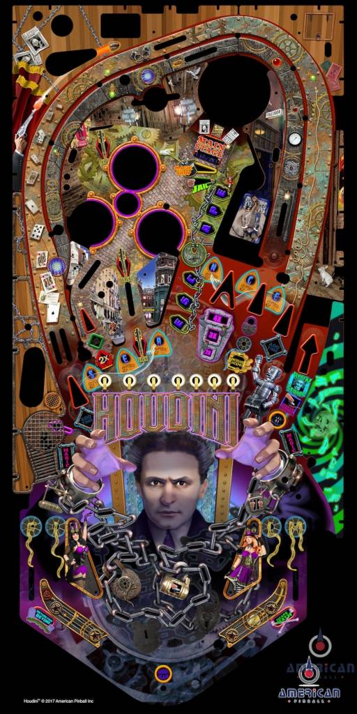 Houdini Master of Mystery Playfield Print