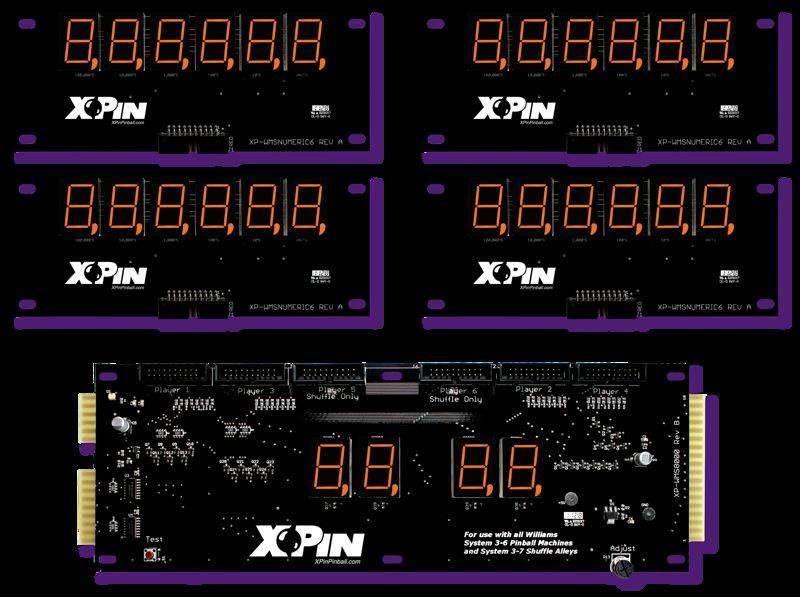 Williams 6-Digit Display XP-WMS8000