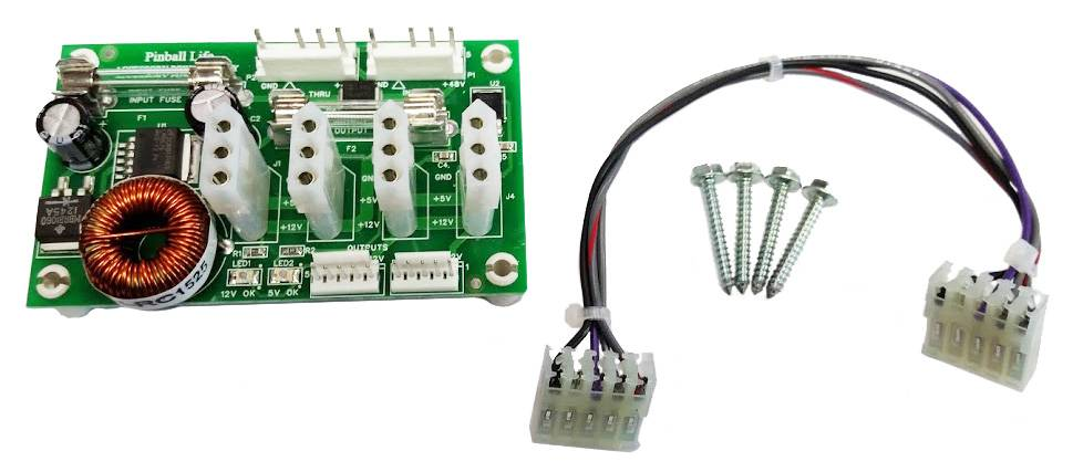 Power Supply-Stern SPIKE/SPIKE2 Sys Pins (Cabinet Mounting)