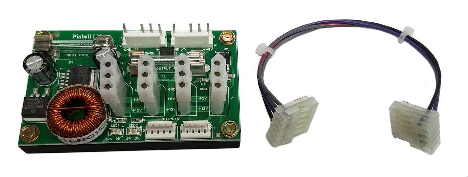Power Supply-Stern SPIKE/SPIKE2 Sys Pins (Backbox Mounting)