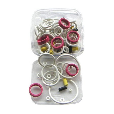 125-Piece White Rubber Ring Set