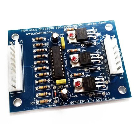 Data East/Sega/Stern Magnet Auxiliary Driver Board