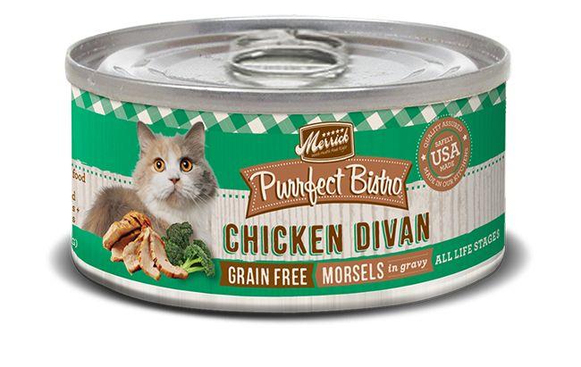MERRICK Merrick Purrfect Bistro Cat Chicken Divan 5.5 oz Can