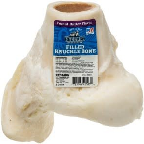 REDBARN Redbarn Filled Knuckle Bone Peanut Butter