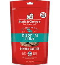 STELLA & CHEWY'S Stella & Chewy Freeze Dried Surf&Turf Dinner Patties 14OZ
