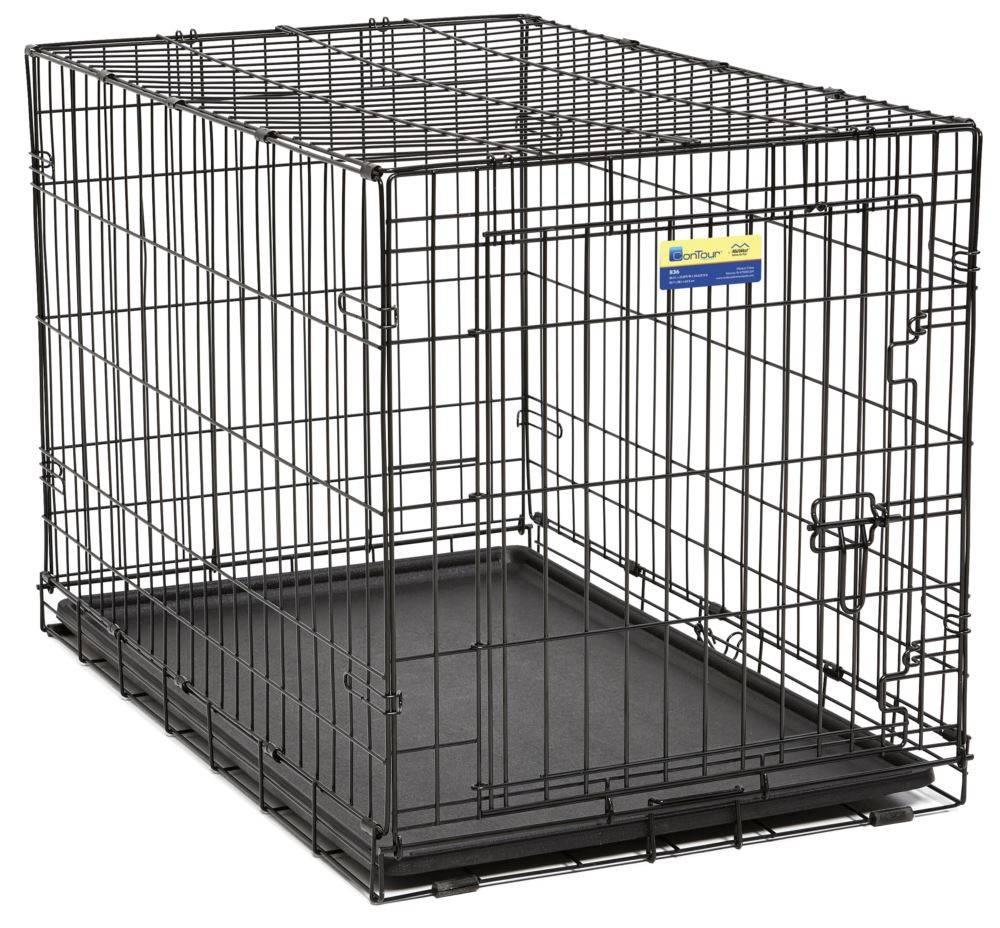 MIDWEST Midwest Contour Crate Black 4000 36IN