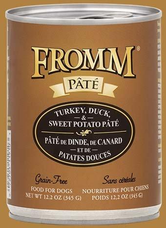 FROMM Fromm Grain Free Pate 12.2OZ Turkey/Duck/Sweet Potato