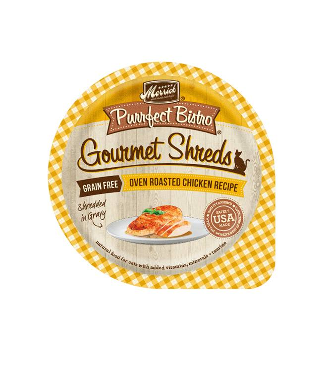 MERRICK Merrick Purrfect Bistro Gourmet Shredders Chicken 3.5oz