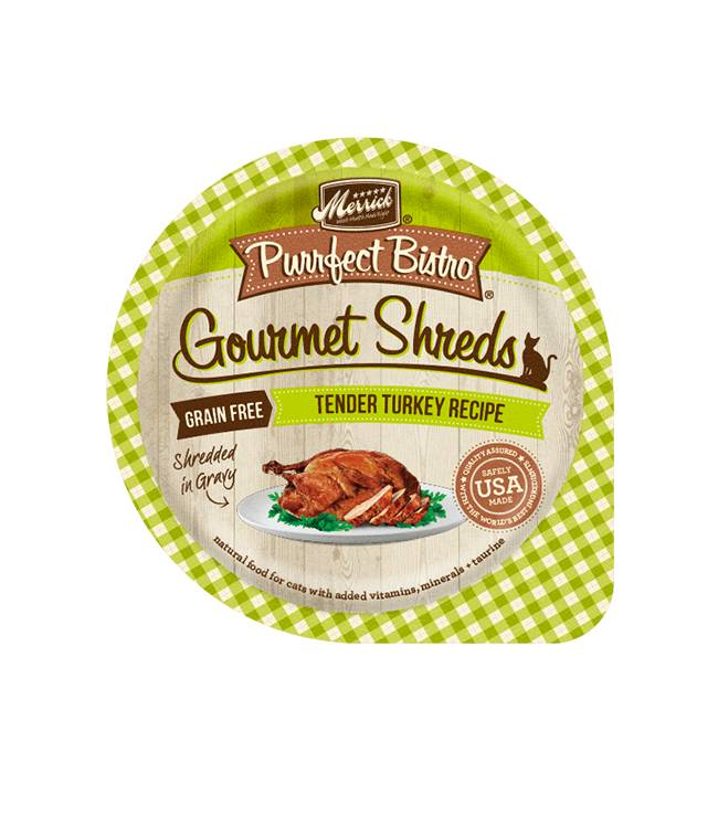 MERRICK Merrick Purrfect Bistro Gourmet Turkey TendersShredders 3.5OZ