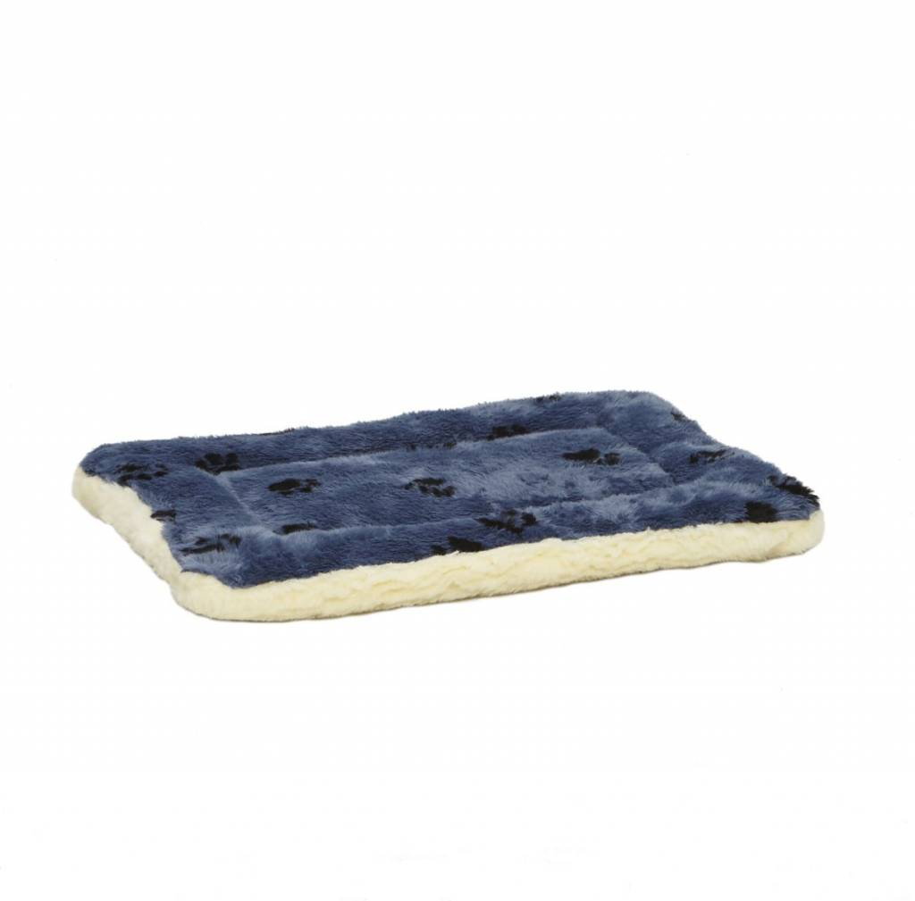 MIDWEST Midwest Quiet Time Blue Paw Bed -