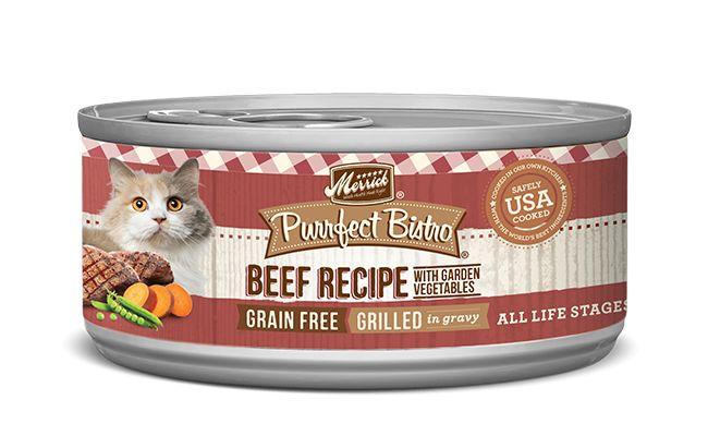 MERRICK Merrick Purrfect Bistro Cat Grilled Beef & Veggies 5.5 oz Can