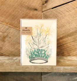 New Year Tiara Card Set