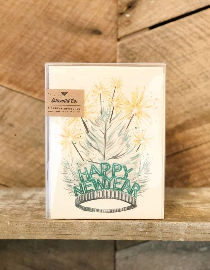 New Year Tiara Card Set