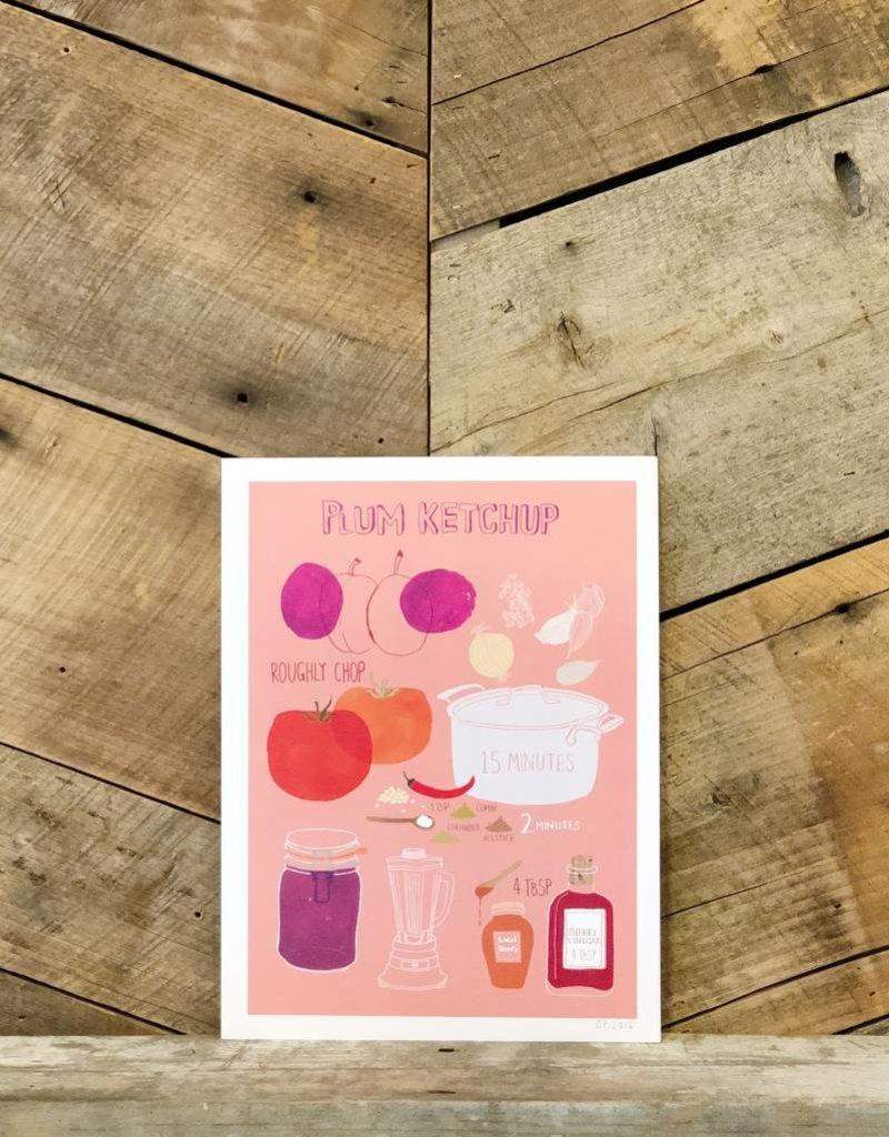 Plum Ketchup Print