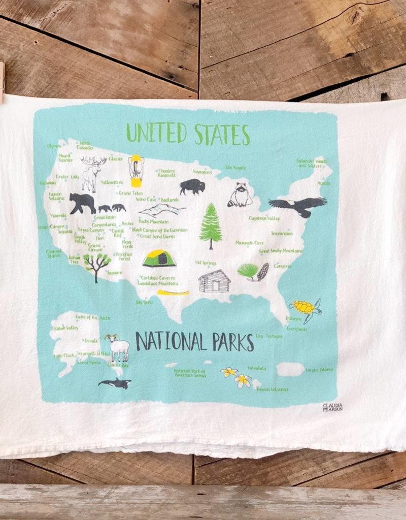 National Parks Tea Towel