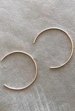 Gold Crescent Hoop Earrings