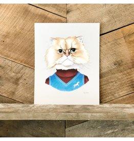 Fuzzy Cat Print