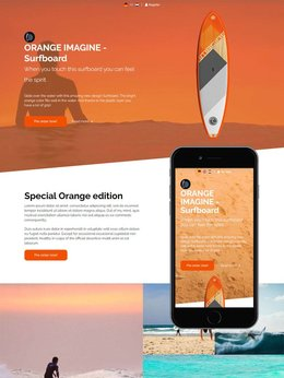 Redbanana one pager Surfboard