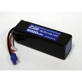 Zeee Power 22.2 V 6000 mAh LiPo Battery 30C