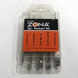 37-450 Zona 5 Pc Tweezer Set