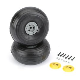 """Dubro J3 Cub Wheels, 3-3/8"""" Lite"""