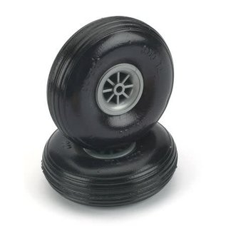 Dubro Treaded Wheels Rubber 3-1/4""