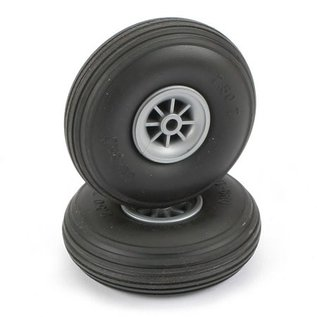 Dubro Treaded Wheels Rubber 2-1/2""