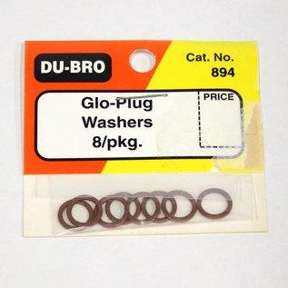 Dubro Glow Plug Washers 8/pk