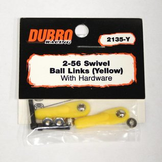 Dubro Swivel Ball Link 2-56 YELLOW