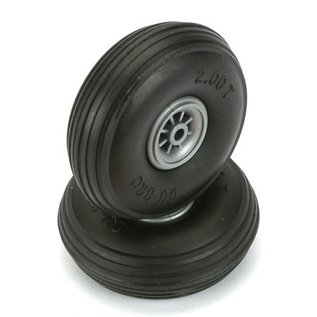Dubro Treaded Wheels Rubber 3-1/2""