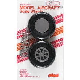 Robart Scale Wheels Straight 2-3/4""