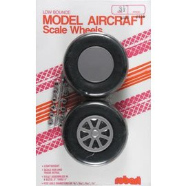 Robart Scale Wheels Straight 3-1/2""