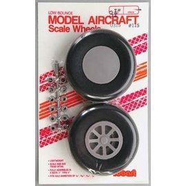 Robart Scale Wheels Straight 3-1/4""