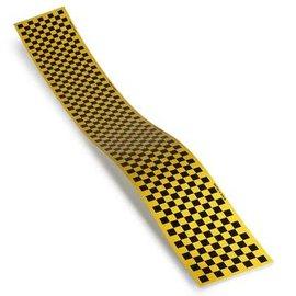 """Monokote Trim Sheet Check Black/Yellow 5"""" x 36"""""""