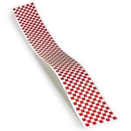 "Monokote Trim Sheet Check Red/Wht 5"" x 36"""