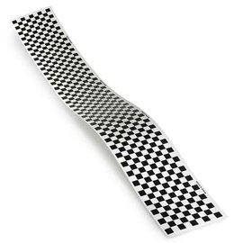 """Monokote Trim Sheet Check Black/Clear 5"""" x 36"""""""
