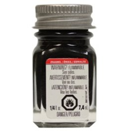 Testors Enamel 1/4 oz Flat Black