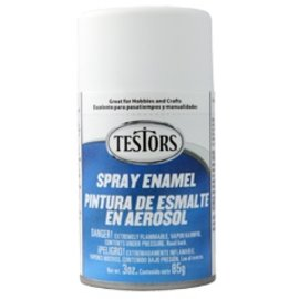 Testors Spray 3oz Flat White