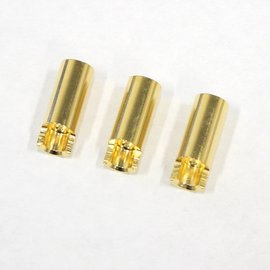 Bullet Connectors: Gold Plated 5.5mm Female 3 pcs.