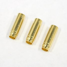 Bullet Connector - Gold Plated 5mm Female (3)