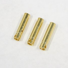 Bullet Connector - Gold Plated 4mm Female (3)
