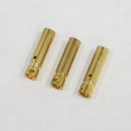 Bullet Connector - Gold Plated 3mm Female (3)