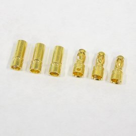 Bullet Connector - Gold Plated 3.5mm 3M/3F